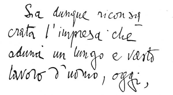 Handwriting sample: Gabriele d'Annunzio