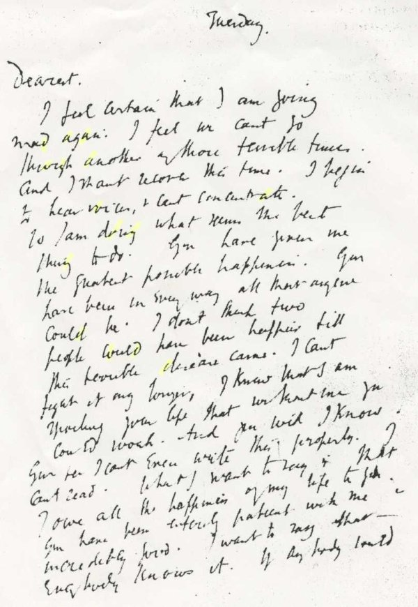 Virginia woolf handwriting