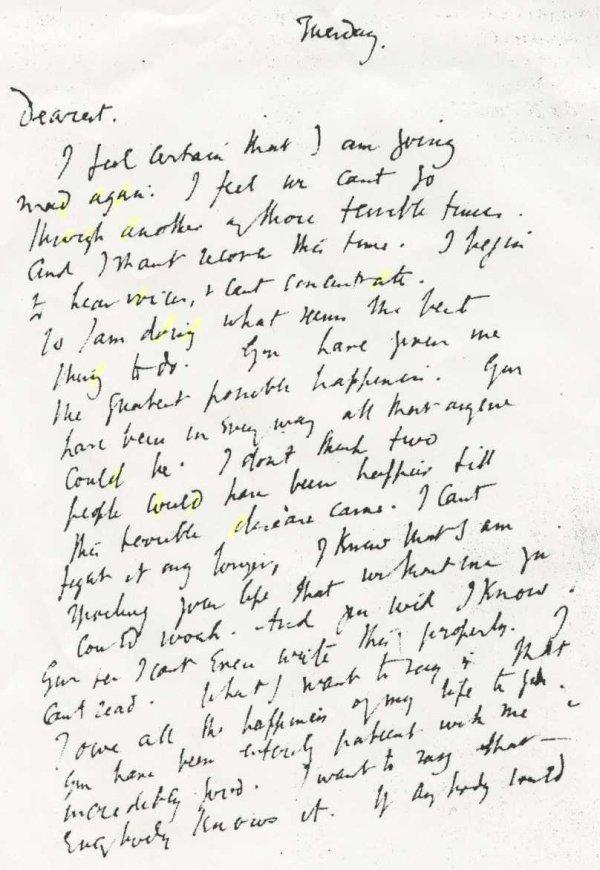 virginia woolf handwriting