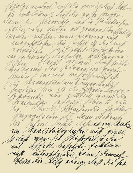 Handwriting sample: Sigmund Freud