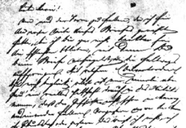 Handwriting sample: Friedrich Engels