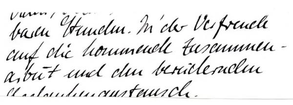 Handwriting sample: intense off-and-on carved