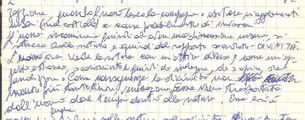 Handwriting: Methodically Uneven without Spacing between words