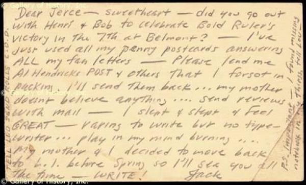 Jack Kerouac handwriting