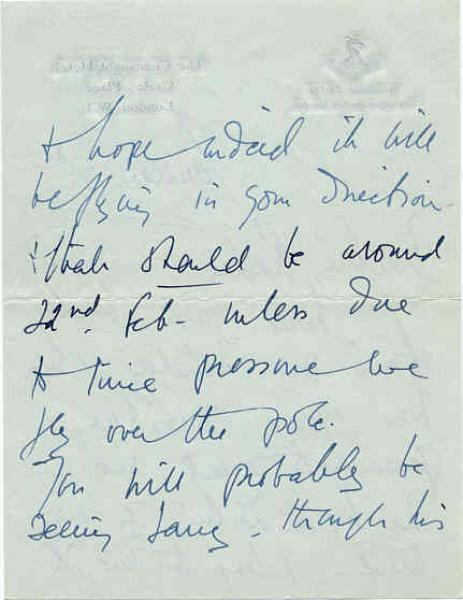 Handwriting: Vivien Leigh