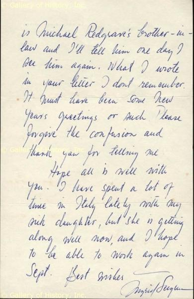 Handwriting: Ingrid Bergman