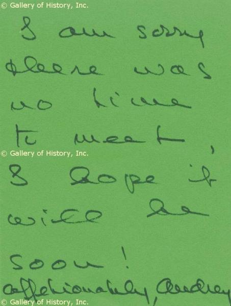 Handwriting: Audrey Hepburn