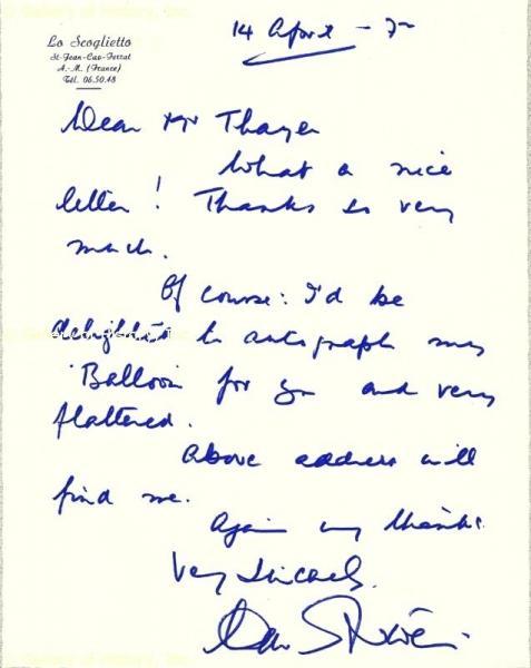 Handwriting: David Niven